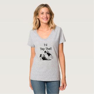 Camiseta T personalizado do dançarino de torneira