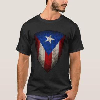Camiseta T porto-riquenho do grunge da bandeira