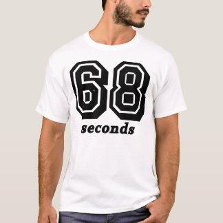 Camiseta T preto da BG de 68 segundos