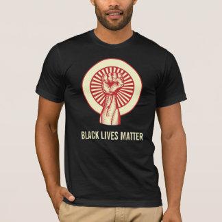 Camiseta T preto da matéria das vidas