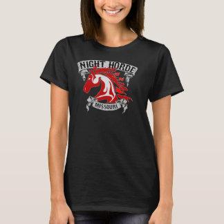 Camiseta T preto de Missouri da horda da noite