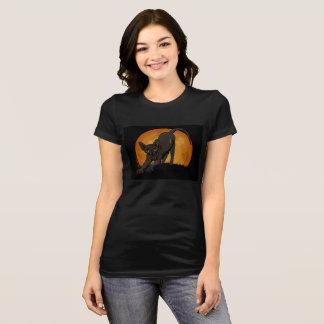 Camiseta T preto do gato do sphynx do Dia das Bruxas