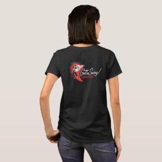 Camiseta T preto do Gottaswing da mulher
