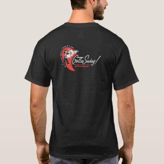 Camiseta T preto do GottaSwing dos homens