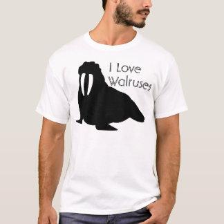 Camiseta T preto e branco da morsa