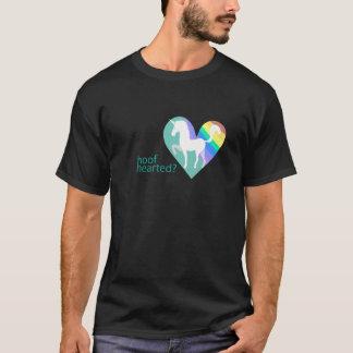 Camiseta T preto Hearted do casco