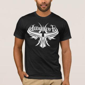 Camiseta T pretos do logotipo do guardião