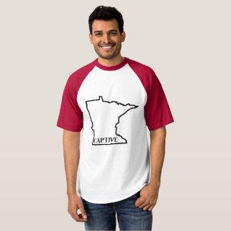 Camiseta T prisioneiro do basebol de Minnesota