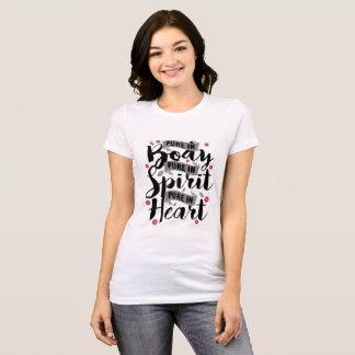 Camiseta T puro dos componentes