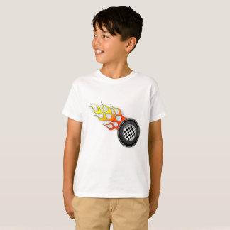 Camiseta T quente das rodas dos miúdos
