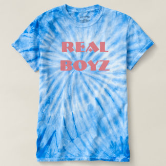 Camiseta T real da tintura do laço de Boyz