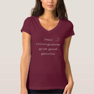 Camiseta T real do Milonguera Gancho das mulheres