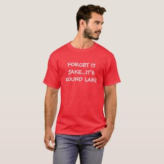 Camiseta T redondo do humor do lago