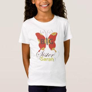 Camiseta T retro C2 das borboletas