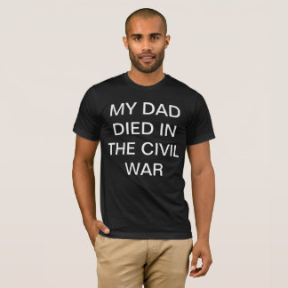 Camiseta T retro da guerra civil