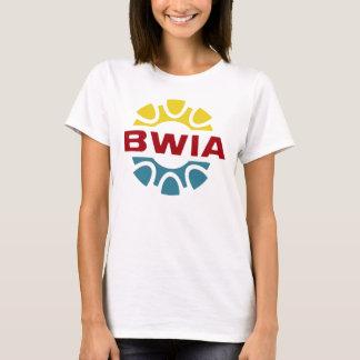 Camiseta T retro da linha aérea de BWIA