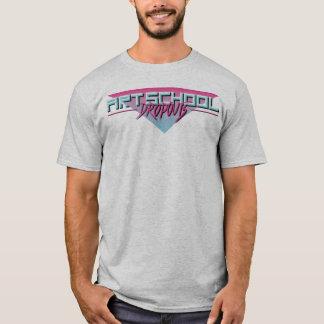 Camiseta T retro das saídas da escola de arte