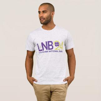 Camiseta T retro do banco da nação de Louisiana no roxo e