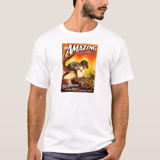 Camiseta T-Rex contra o tanque de Sherman