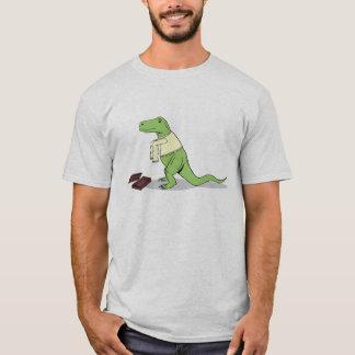 Camiseta T.rex deia as capas longas