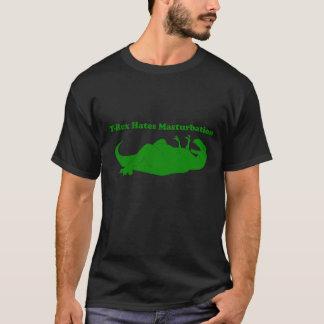 Camiseta T-rex deia o T da obscuridade da masturbação