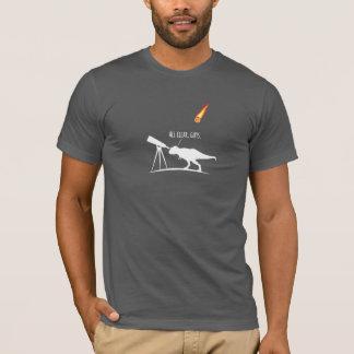 Camiseta T-Rex era um caçador asteróide terrível