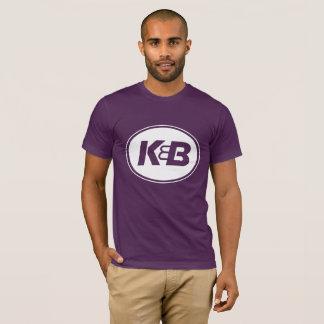 Camiseta T roxo do K&B dos homens