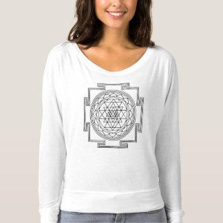 Camiseta T sagrado do Slub da geometria das mulheres