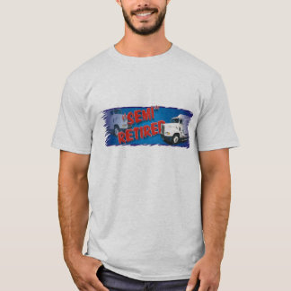 Camiseta T semi aposentado