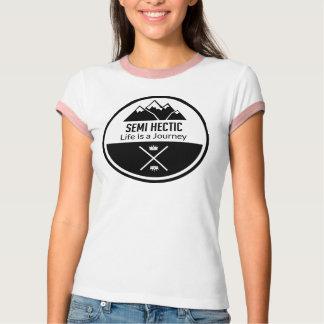 Camiseta T semi héctico do hipster