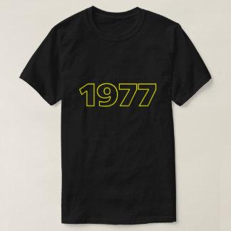 Camiseta T-shirt 1977 retro (amarelo)
