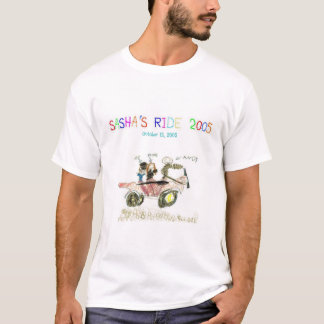 Camiseta T-shirt 2005 do passeio de Sasha