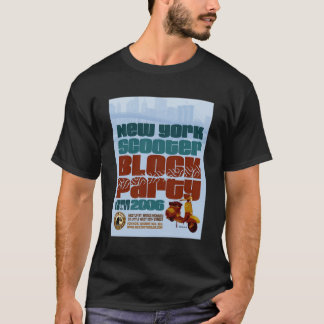 Camiseta T-shirt 2006 de BlockParty NYC do patinete