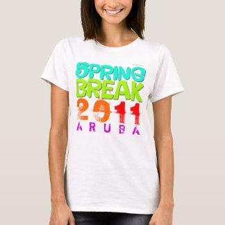 Camiseta T-shirt 2011 do branco de Aruba das férias da