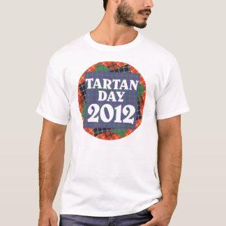 Camiseta T-shirt 2012 do dia do Tartan