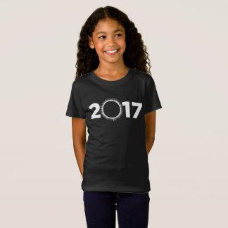 Camiseta T-shirt 2017 americano do eclipse total da menina