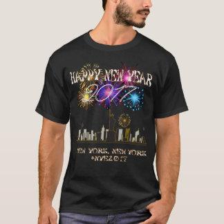 Camiseta T-shirt 2017 da véspera de Ano Novo de ComX New