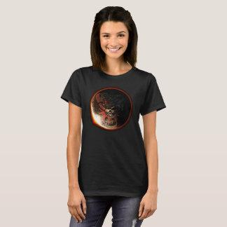 Camiseta T-shirt 2017 do eclipse do crânio do dragão