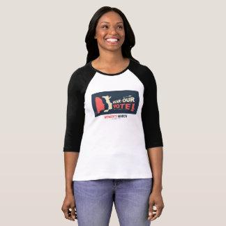 Camiseta T-shirt 2018 do LA do março das mulheres