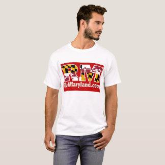 Camiseta T-shirt 2018 vermelho do logotipo de Maryland