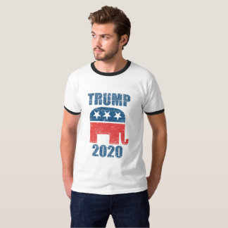 Camiseta T-shirt 2020 republicano dos homens do vintage do