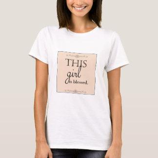 Camiseta T-shirt abençoado da menina