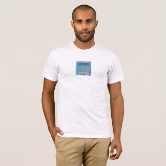 Camiseta T-shirt, abstrato, ardósia, azul, turquesa,