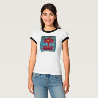 Camiseta T-shirt abstrato da flor