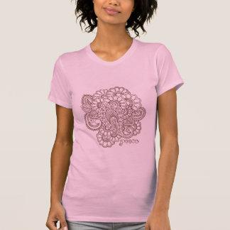 Camiseta T-shirt abstrato do design de Mehndi do Henna
