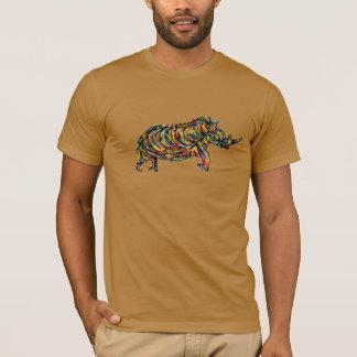 Camiseta T-shirt abstrato do rinoceronte