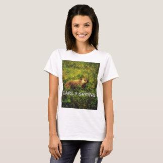 Camiseta T-shirt adiantado do primavera