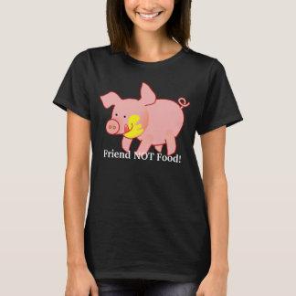 Camiseta T-shirt adorável do porco do bebê