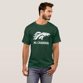 Camiseta T-shirt adulto do carregador - logotipo branco