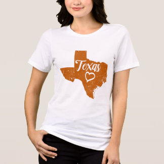 Camiseta T-shirt afligido amor do vintage do estado de